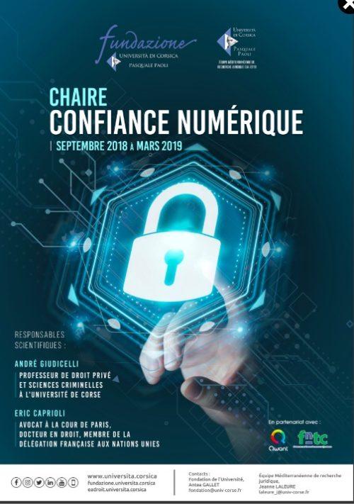 Chaire confiance numérique – 20 settembre 2019, Bastia